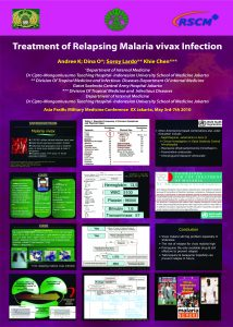 Treatment of Relapsing Malaria Vivax Infection
