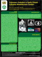 Pulmonary Embolism in Septic Patient